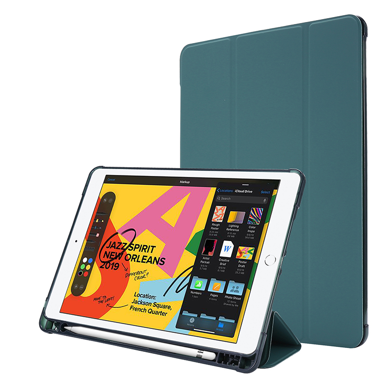 เคสซิลิโคน case หุ้ม For iPad Gen 8 10.2 inch 2020 เคส with apple pencil slot iPad 7 2019 ซองหนัง