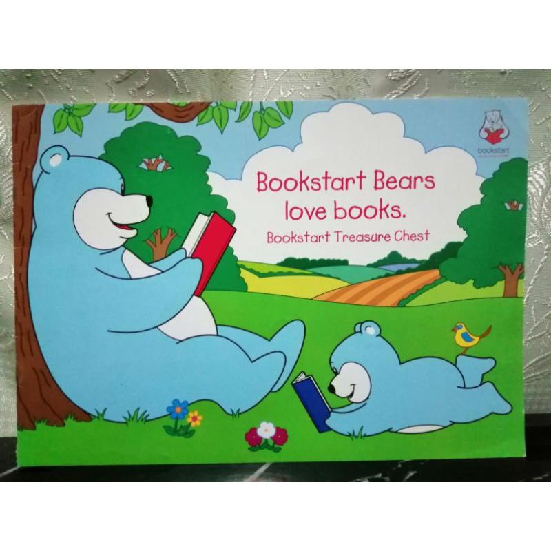 Bookstart Bears love books. bookstart treasure chest-123