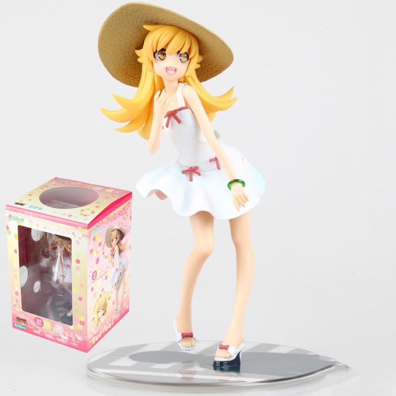 17cm Monogatari Bakemonogatari Oshino Shinobu Retail Anime Sexy girls Anime PVC Action Figures toys Anime figure Toys Fo