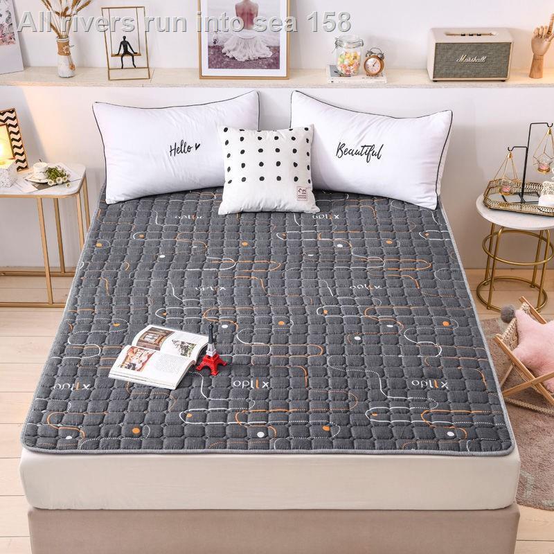 ✳ที่นอนบาง, ผ้ารองกันเปื้อน & topperบาง ที่นอนกันลื่น, ที่นอนบาง ผ้ารองกันเปื้อนที่นอน ขนาด 3.5 ฟุต 5 ฟุตและ 6 ฟุต