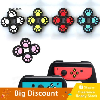 LYY_4Pcs Silicone Thumb Switch Cap Cat Paw Pattern Cover Protective Controller Grip