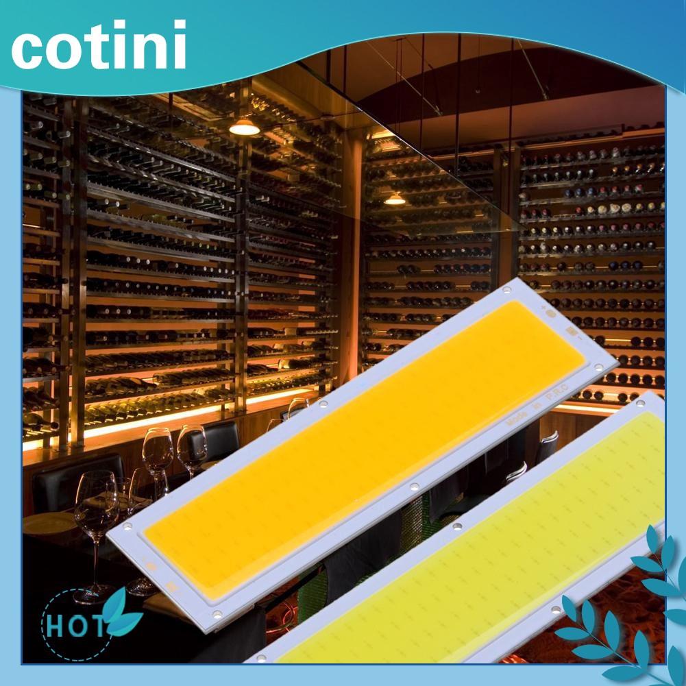 DISKON💝12V 10W ซังแผงไฟ LED Strip ไฟโคมไฟหลอดไฟ 120X36mm อบอุ่นสีขาว / ขาว