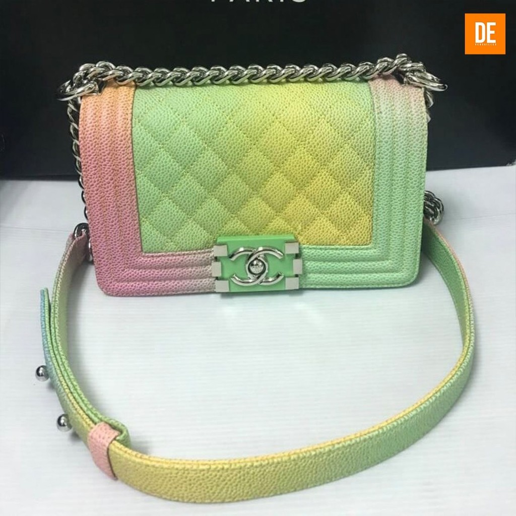 "Chanel กระเป๋าสะพาย New CC boy 8"" Rainbow : GN1400A"