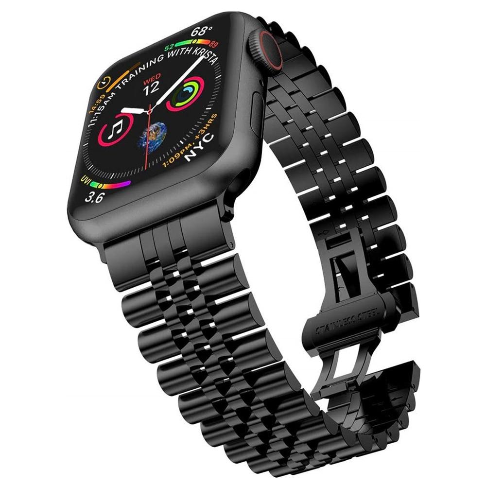 สายนาฬิกาข้อมือสแตนเลสสตีลสําหรับ apple watch series 5 4 band 40 มม. 44 มม. สําหรับ iwatch series 3/2/1 38 มม.