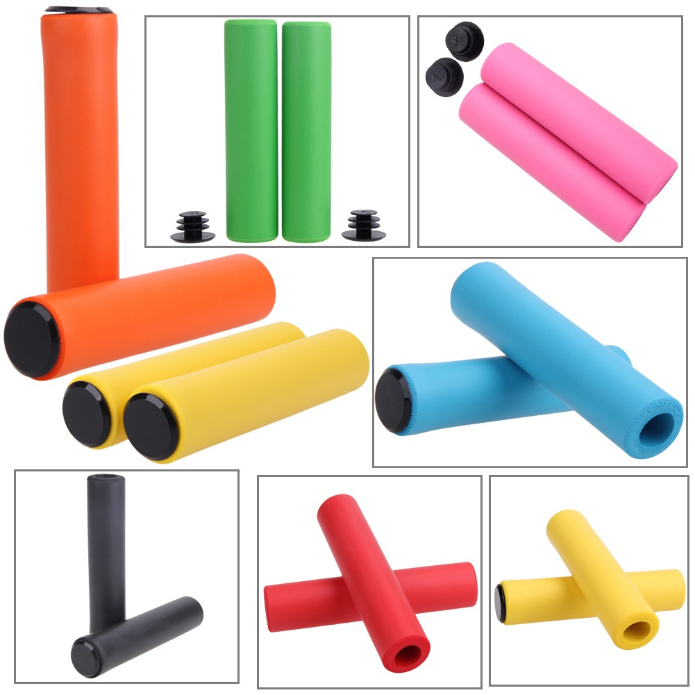 1 Pair Bicycle Grip Silicone Handlebar Pads Anti-Slip Grips For Mountain MTB