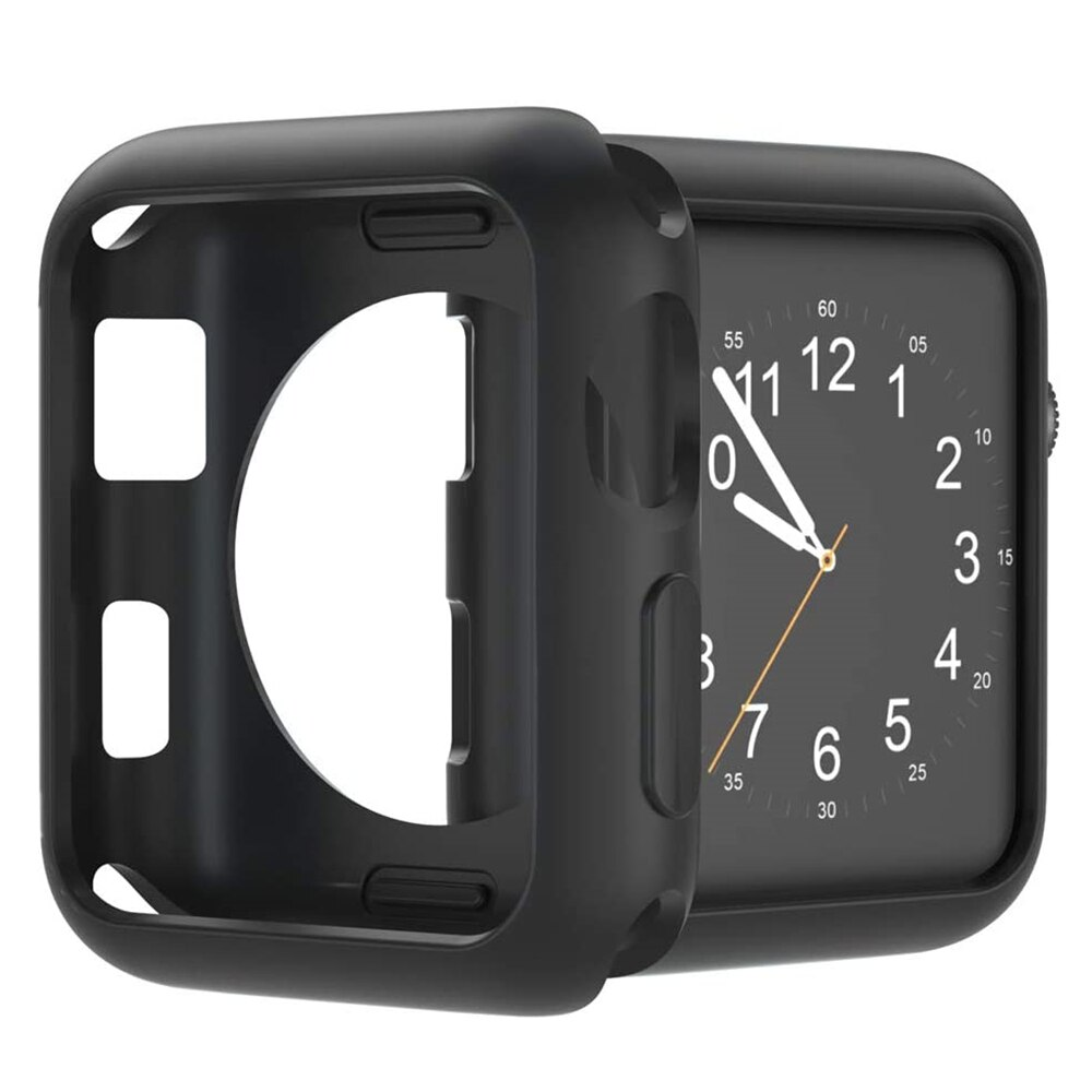 for Apple Watch Case 40mm 44mm 38mm 42mm Soft TPU Protective Bumper iWatch Cover for Applewatch Series 5 4 3 2 1 Silicon