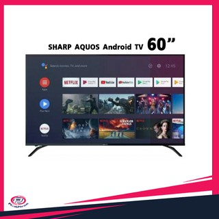 LED Smart TV 4k SHARP AQUOS Andirod TV รุ่น 4T-C60BK1X ขนาด 60""