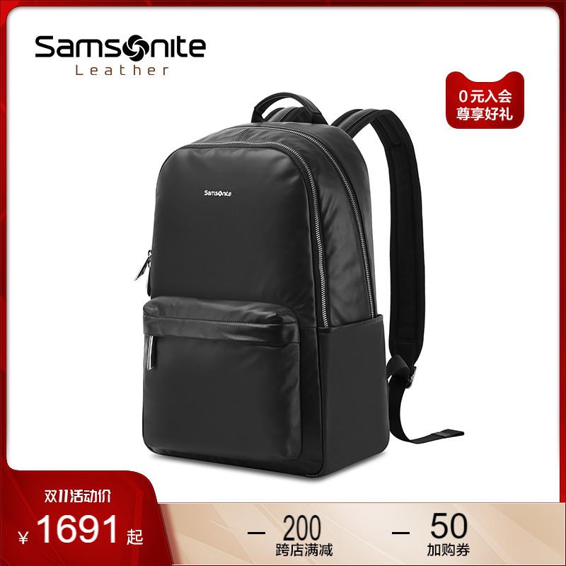 Samsonite/Samsoniteกระเป๋าเป้สะพายหลังกระเป๋าเป้สะพายหลังหญิงธุรกิจที่เดินทางมาพักผ่อน14นิ้วกระเป๋าคอมพิวเตอร์กระเป๋าผู้