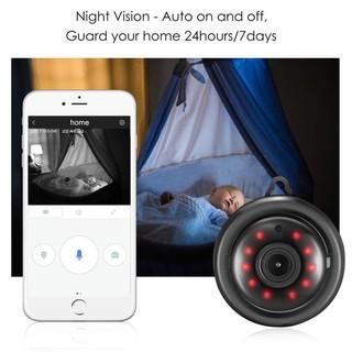 กล้องวงจรปิดขนาดเล็ก 360 องศา Wireless WiFi IP Fisheye 720 P HD