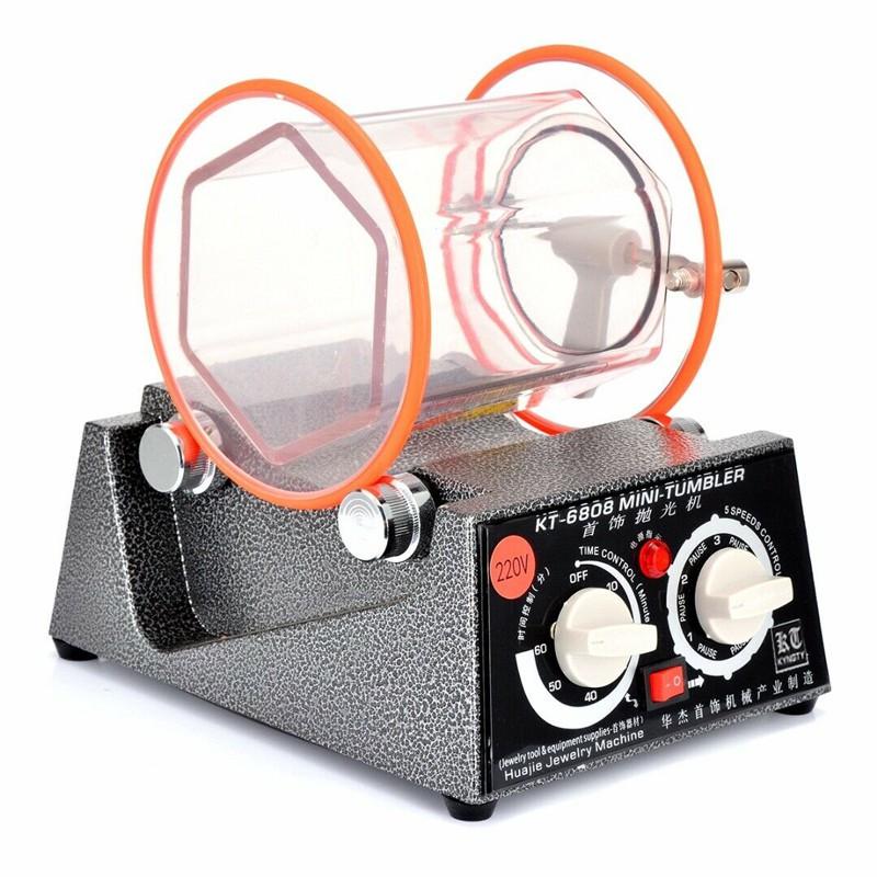 เครื่องร่อนเงา เครื่องร่อนลูกเหล็ก เครื่องร่อนเงาจิวเวรี่ Magnetic Tumbler รุ่น KT-6808