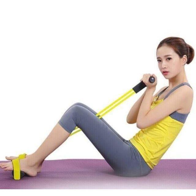ยางยืดออกกำลังกาย  ยางยืดโยคะ  โยคะรุ่นนี้ยาง 4 เส้นหนา ผ้ายืดออกกำลังกาย ยางยืดแรงต้าน  ยางยืดออกกำลังกายแรงต้านสูง