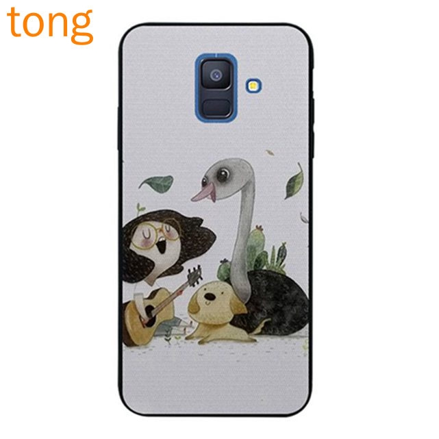 Samsung J2 Note 3 4 5 8 9 A5 A6 A8 A9 Star Pro Plus 2018 Duck and dog Silicon Case
