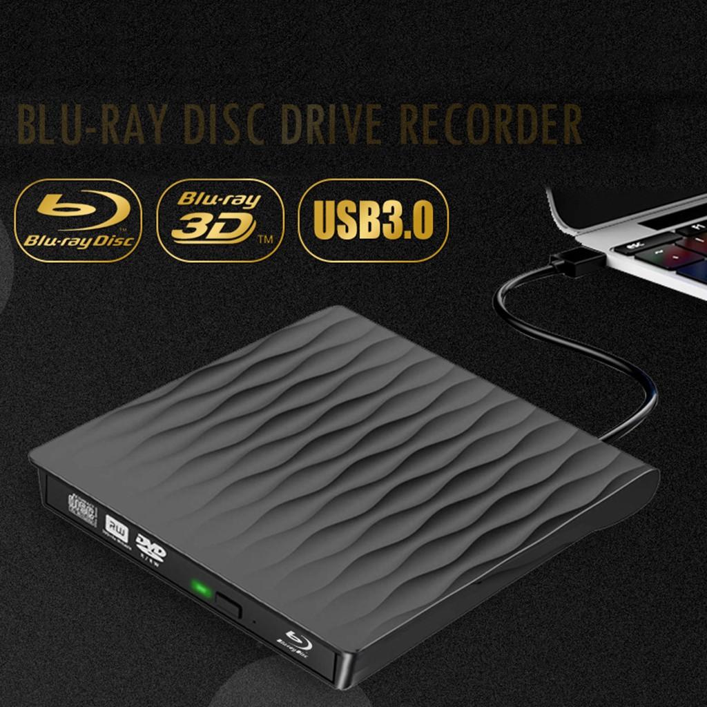 ( New ) Maikou External Blu - Ray Dvd Drive , Usb 3 . 0 Ultra Slim 3 D เครื่องเล่น Writer Bd / Cd / Dvd Burner Drive สําหรับ Mac Os / Windows