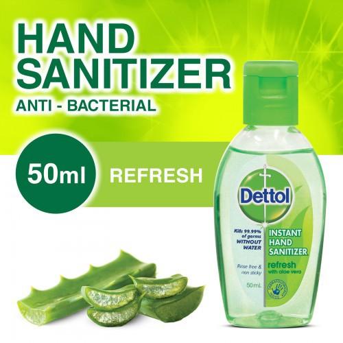 🔥 พร้อมส่ง🔥 Dettol แอลกอฮอล์ เดทตอล เจลล้างมืออนามัย สูตรหอมสดชื่น 50 มล.