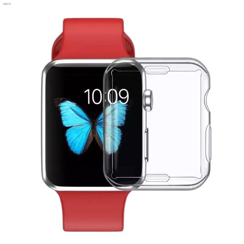 ♀๑เคส สำหรับ AppleWatch ขนาด 38 มม. 40 42 44 ซิลิโคนอ่อนนุ่มหุ้มใสสำหรับ iWatchSeries 5/4/3/2/1