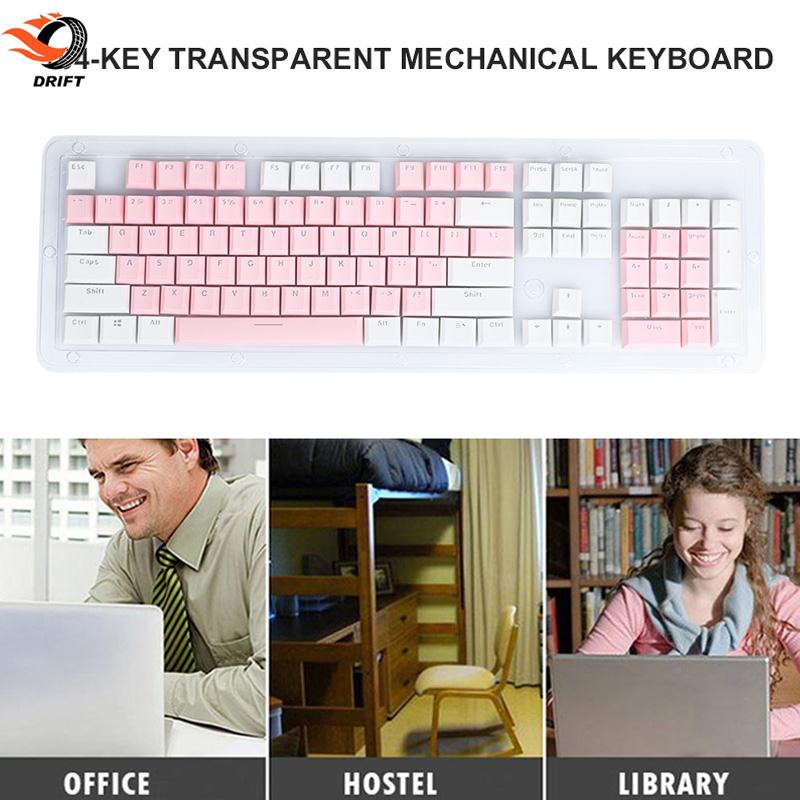 DR Cherry MX Keycaps Keycap Set PBT Translucent Switch Full Size Keyset  Office Durable