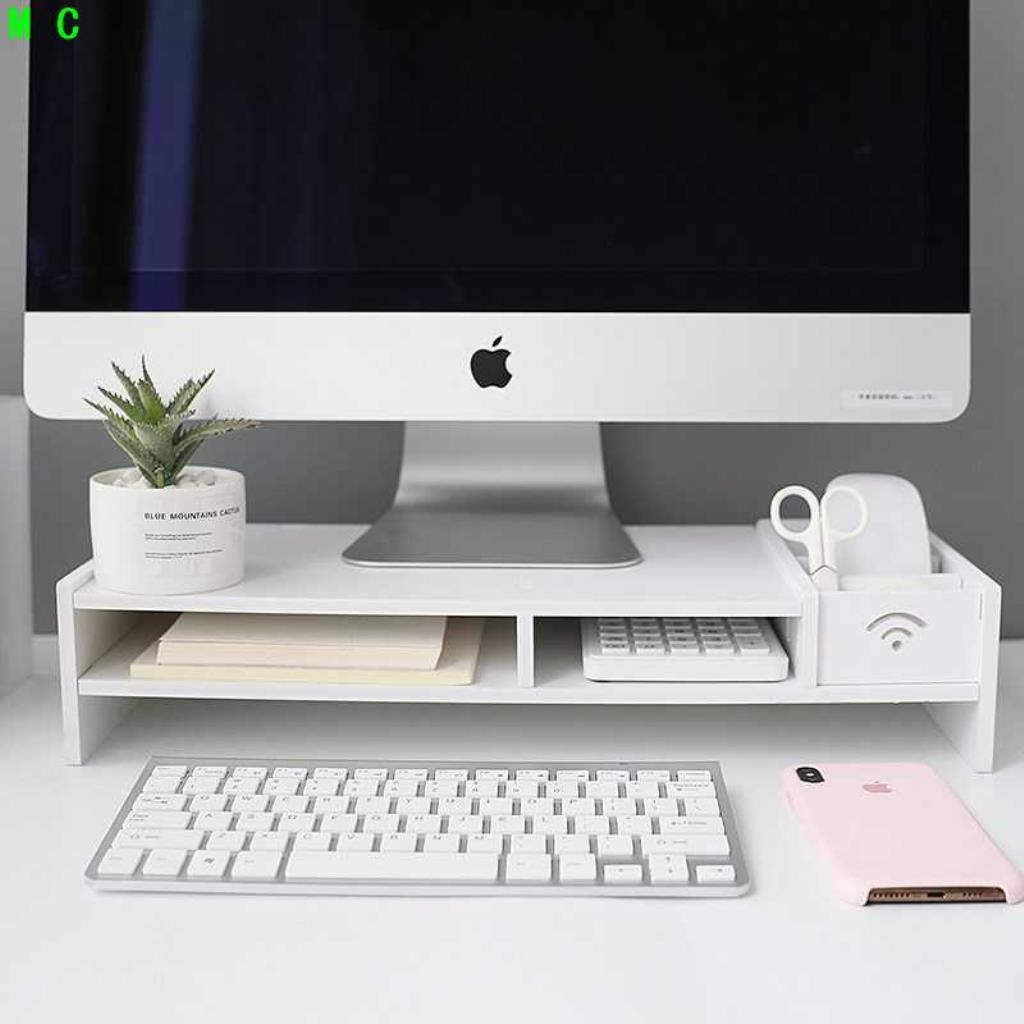 การป้องกันคอแล็ปท็อปจอคอมพิวเตอร์หน้าจอความสูงสนับสนุนโต๊ะสก์ท็อปมัลติฟังก์ชั่ชั้นเก็บ