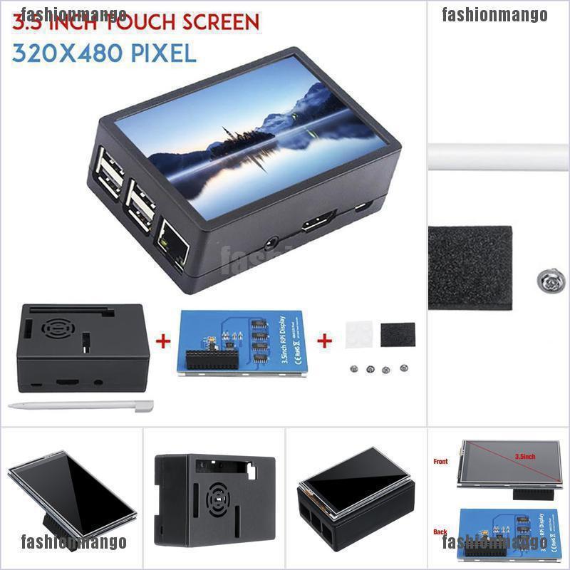 "2B 3B 3B+ 3.5/"" 320*480 TFT Touch Screen LCD Display Case For Raspberry Pi A B A"