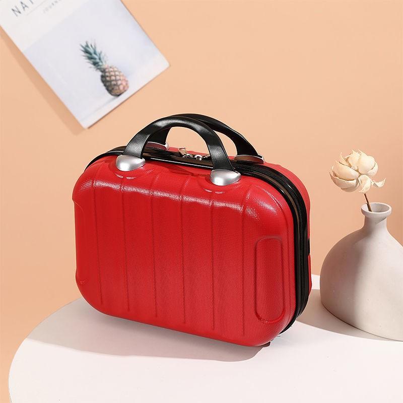 ☽ﺴ۩[น่ารัก] [ลดราคาจากโรงงาน] กระเป๋าเครื่องสำอางกระเป๋าเดินทางใบเล็ก 14 นิ้วสามารถแขวนกระเป๋าเดินทางรถเข็น case accesso