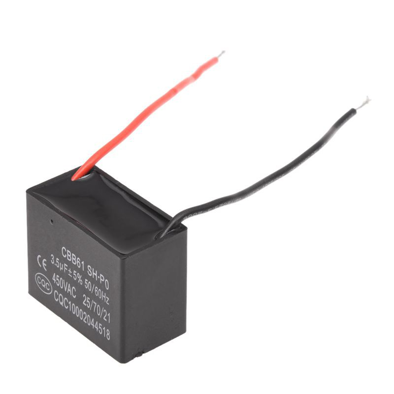 3 5 UF 450 VAC 50 / 60 Hz 2 Wire Fan Capacitor CBB 61 3 5 MFD