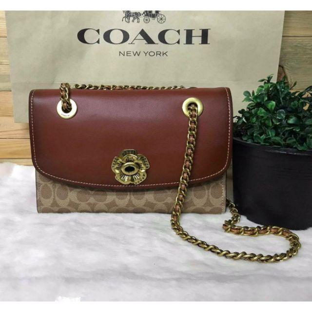[ของแท้!] COACH Parker Shoulder Bag Crossbody Bag กระเป๋าสะพายข้าง