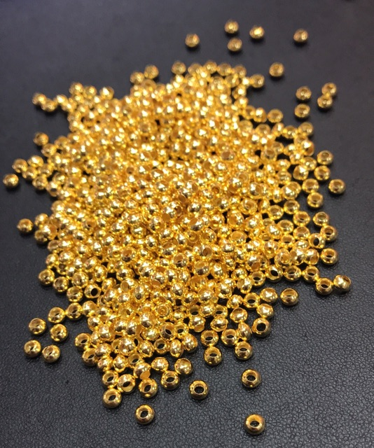 เม็ดทองคำ ลูกปัดทอง ทรงแป้น ราคาปลีก-ส่ง Nmkv