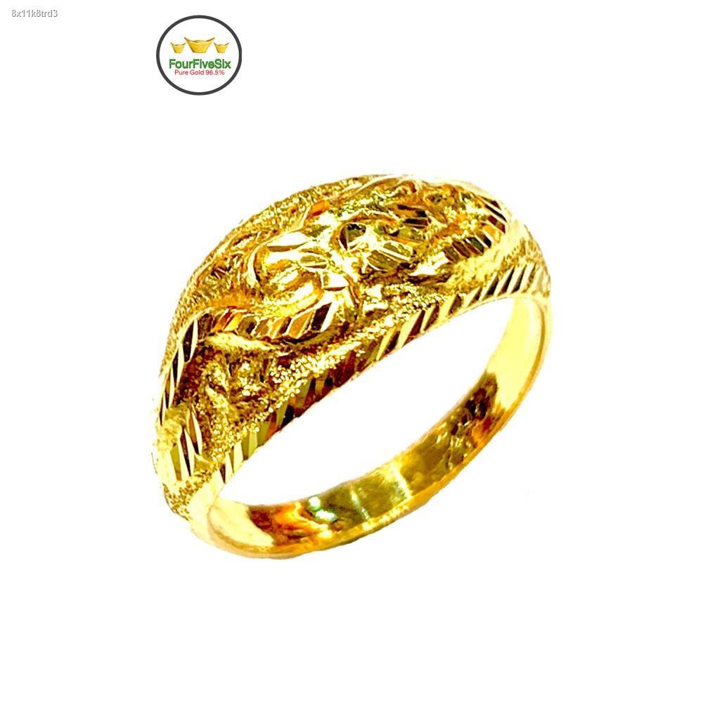 ราคาต่ำสุด✤FFS แหวนทองครึ่งสลึง หัวโป่ง มังกร หนัก 1.9 กรัม ทองคำแท้96.5%
