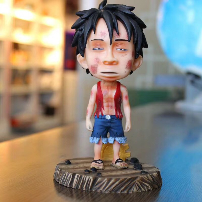 18cm One iece Anime Figure One iece Luffy Battle Statue VC Action Figure Sluggish Luffy Figurine Collectible Model Toys