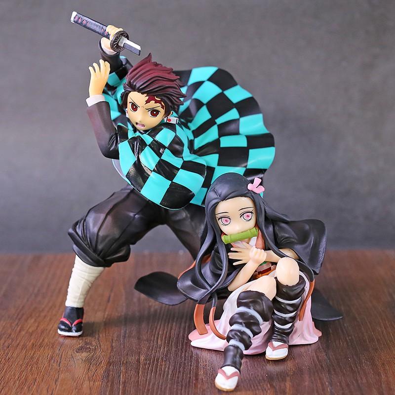 Ichiban Kuji Demon Slayer Kimetsu no Yaiba Kamado Tanjirou Nezuko Fighting Ver PVC Figure Collectibl