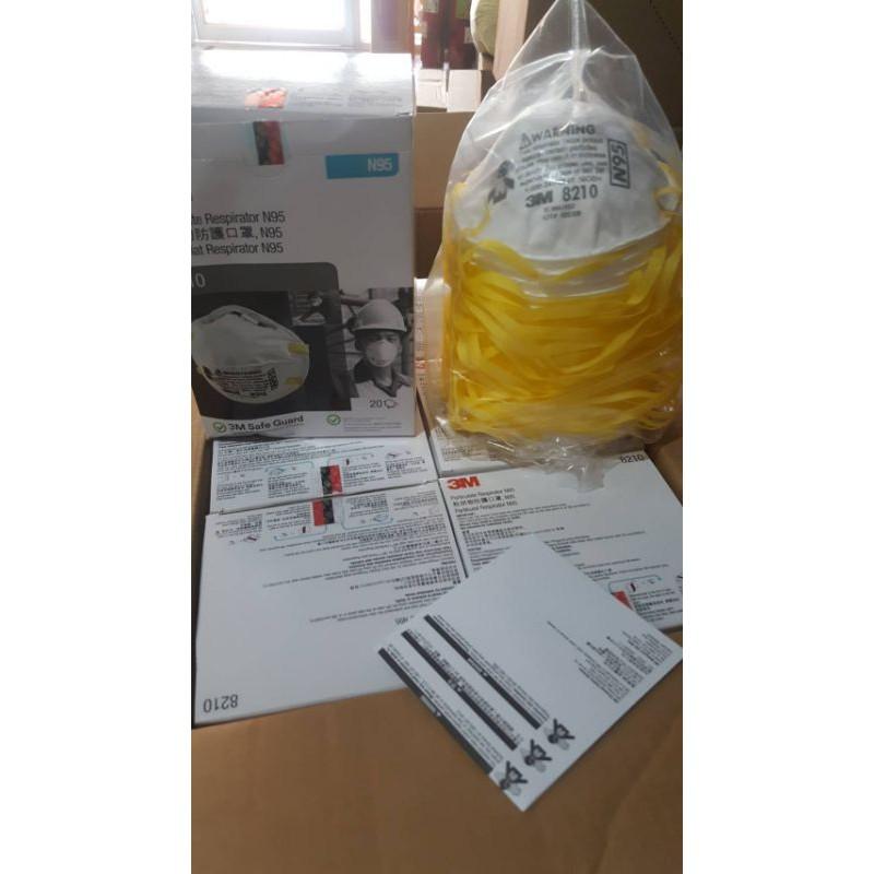 3M-8210N95(1กล่องมี20ชิ้น)สินค้าพร้อมส่ง