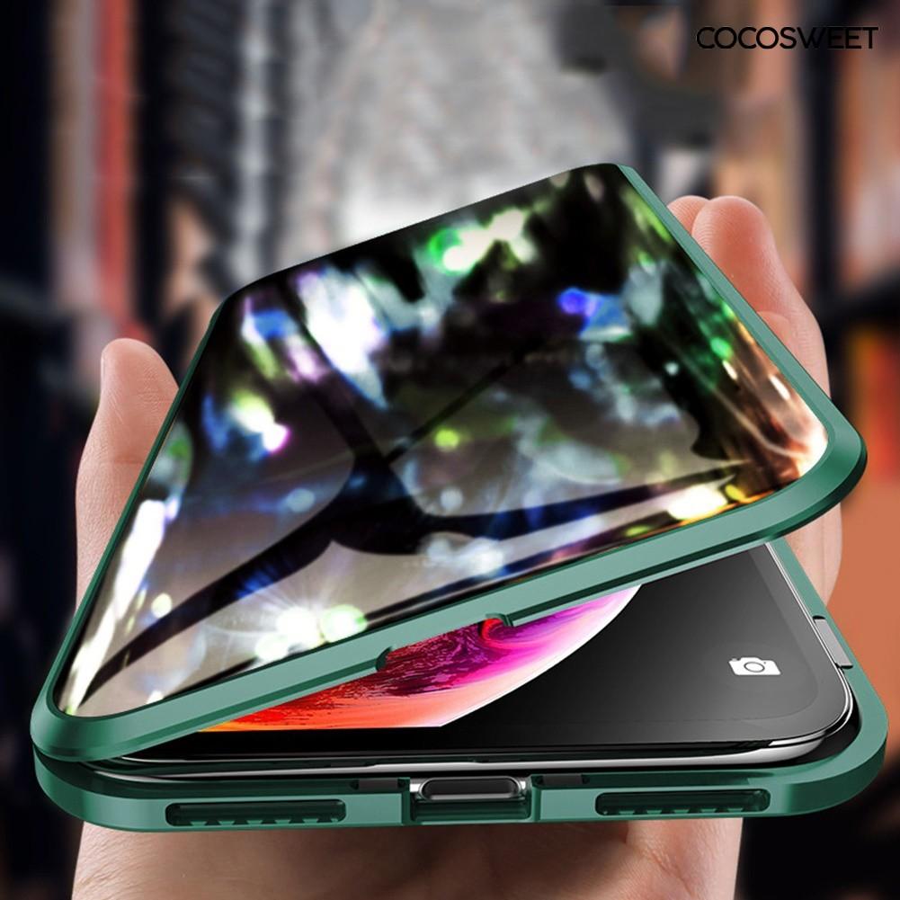 เคสโทรศัพท์มือถือแม่เหล็กแบบสองด้านสําหรับ Iphone 11 Pro Max