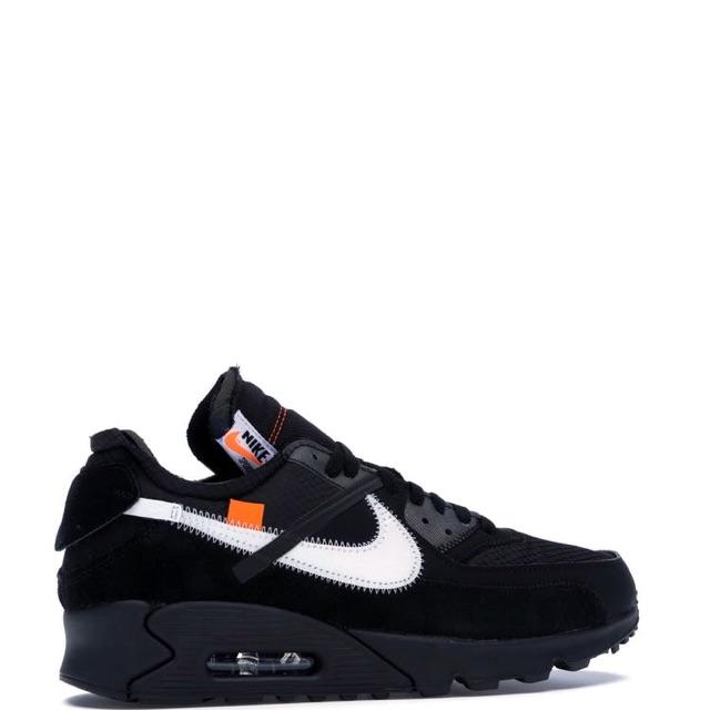 NIKE รองเท้าผ้าใบ Airmax 90 x OFF-WHITE V2 BlACK⬛️