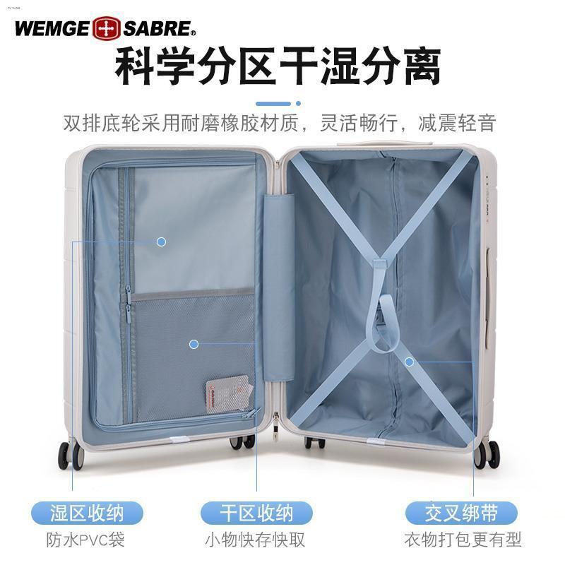 ♧∈กระเป๋าเดินทางมีดทหารสวิส กระเป๋าเดินทางชาย กระเป๋าเดินทางล้อลาก หญิง 24 นิ้ว กล่องรหัสผ่าน กระเป๋าเดินทาง 20 นิ้ว มีล