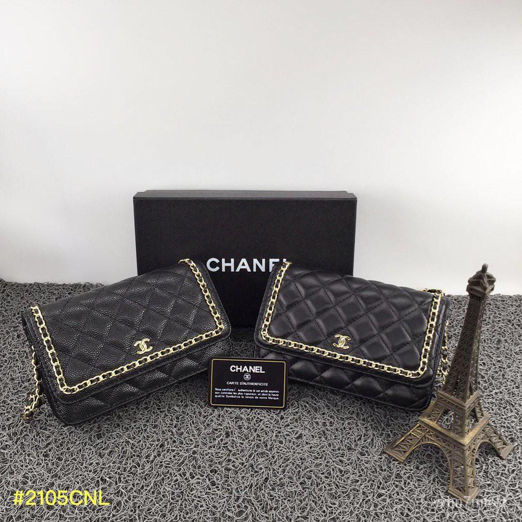 แท้100%Chanel 2way สลิง - Supplierbatamshop - Chanel Woc - Chanel 19 Woc ขนาดเล็กสลิง