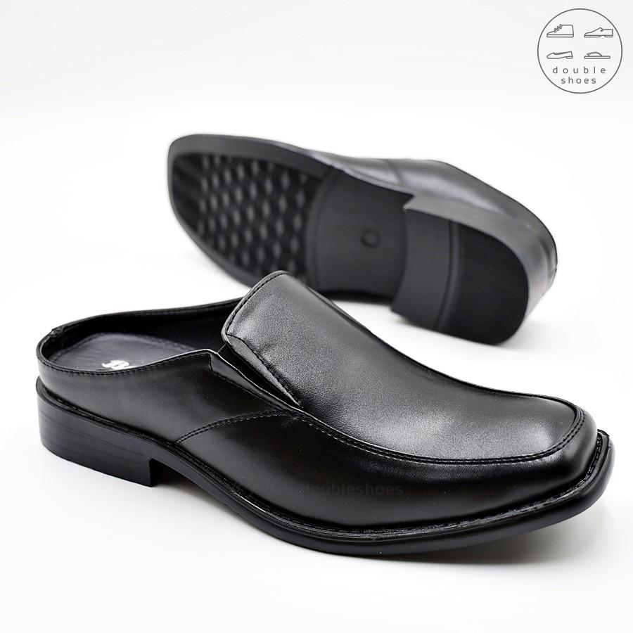 Bata รองเท้าหนังเปิดส้น คัชชูเปิดส้น สีดำ พื้นบุนุ่ม รุ่น 861-6609 ไซส์ 6-11 (39-45)