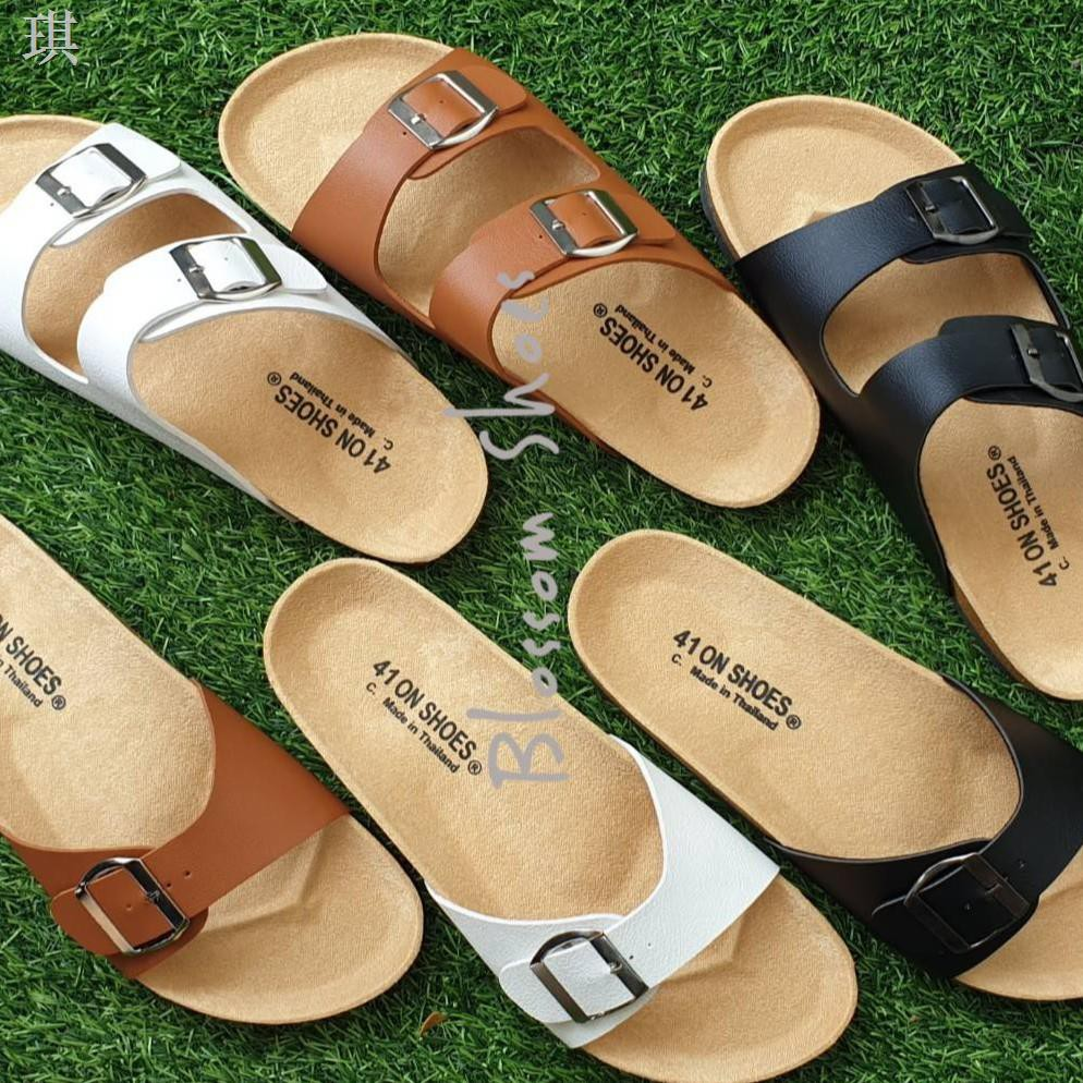 ✺ไซส์ใหญ่ 41-43 รองเท้าแตะ ฺBikenStock 1Step /2step  สายปรับระดับได้