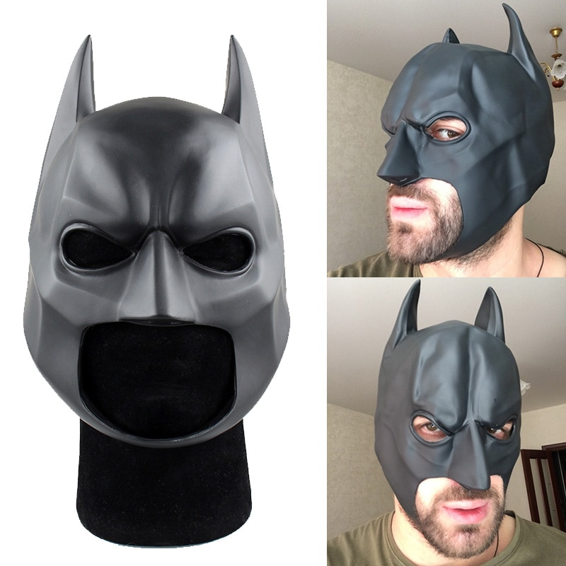 The Dark Knight Batman Helmet Mask Masque PVC Flexible Cosplay Prop