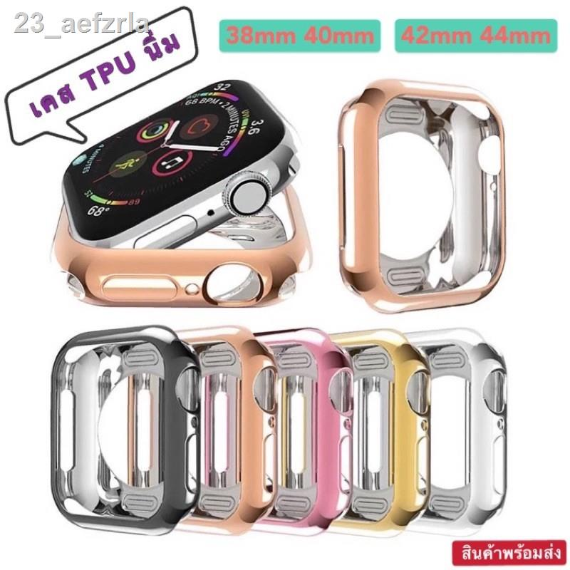 ❃❈☾Case TPU นิ่ม สีเงาวาว AppleWatch Series 1,2,3,4,5,6,SE