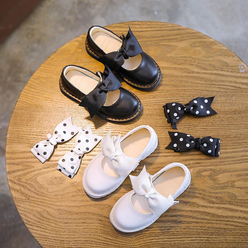 รองเท้าคัชชูประดับโบว์แฟชั่นสำหรับเด็กผู้หญิง