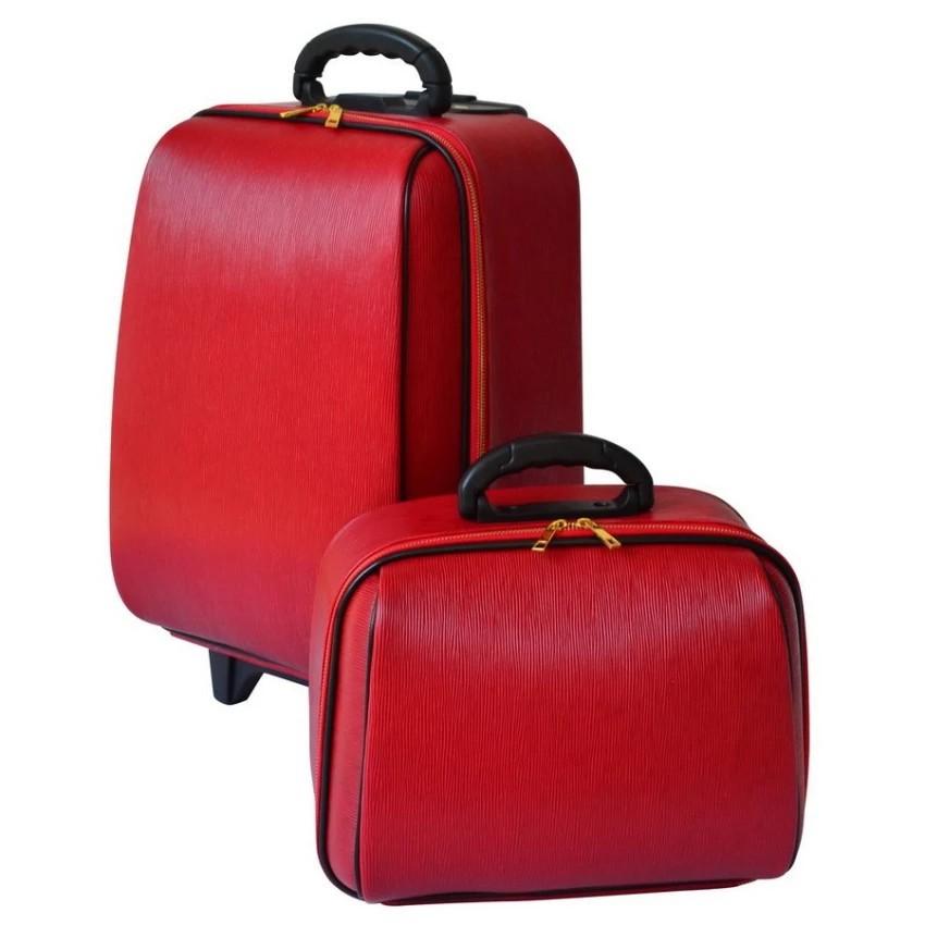 กระเป๋าเดินทางล้อลาก Luggage BB-Shop เซ็ทคู่ 18/14 นิ้ว L-Louise Classic (Red) สินค้า กระเป๋าล้อลาก กระเป๋าเดินทางล้อลาก