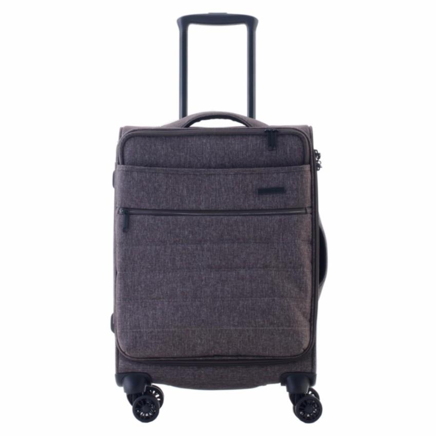 CAGGIONI กระเป๋าเดินทางแบบผ้า รุ่นแฟลกซ์ 3.0 สไตรค์ โมเดล 17082 ขนาด 20 นิ้ว สีน้ำตาล