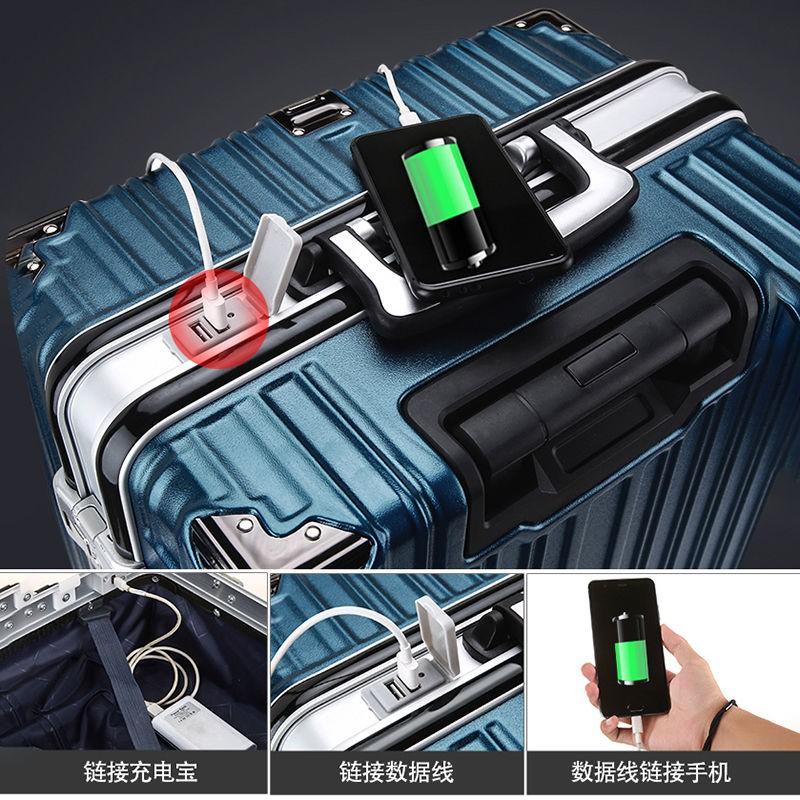 ▼chkat กระเป๋าเดินทางกระเป๋าอลูมิเนียมกล่องรถเข็นกลมสากล 28 หญิงนักเรียนชาย 24 รหัสผ่านกล่องหนา 20 นิ้ว