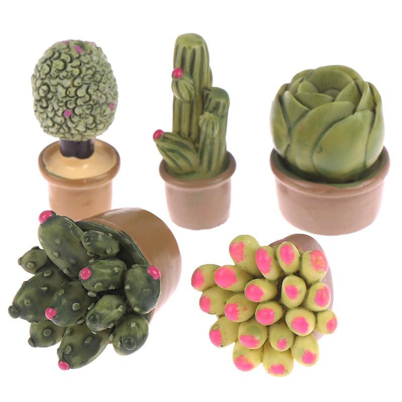 2PCS 1:12 Miniature Green Plants Decoration Dollhouse Furniture Accessories*