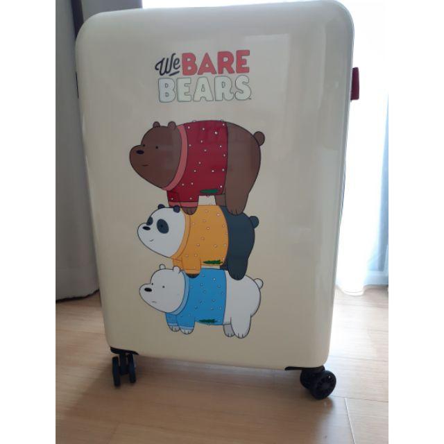 กระเป๋าเดินทางล้อลากใบใหญ่ขนาด 24 นิ้วลาย we bare bears ลิขสิทธิ์แท้จาก cartoon network ของใหม่พร้อมส่ง