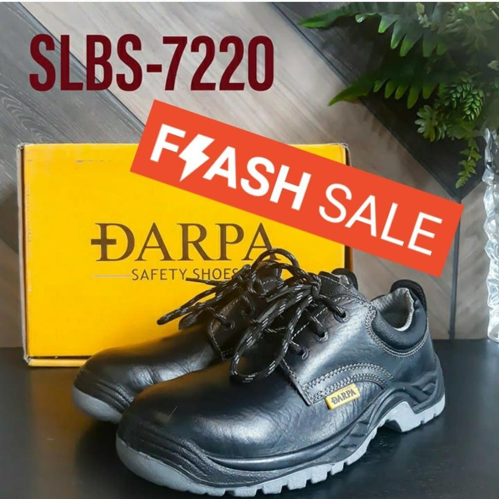 ?[ลดสุดแรงแค่ 7 วัน] รุ่น Slbs-7220 รองเท้าเซฟตี้หัวเหล็ก Darpa Safety Shoes (หุ้มส้น) ทำจากหนังแท้+พื้นพียูpuกันลื่น.