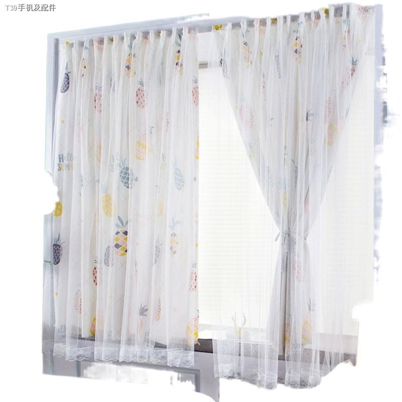 ∋☌✷ส่งจากไทย ผ้าม่านหน้าต่าง ผ้าม่านสำเร็จรูป ม่านประตู 2ชั้น ผ้าม่านโปร่งแสง ใช้ตีนตุ๊กแก