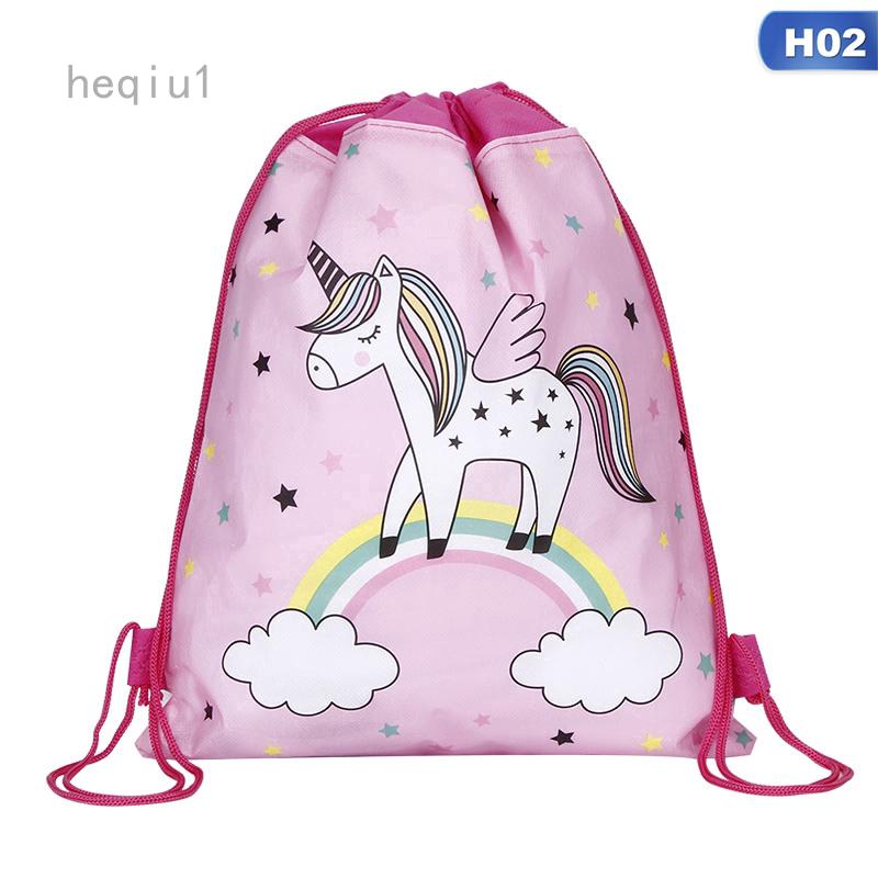 กระเป๋าเป้สะพายหลังสําหรับเด็กผู้หญิงลายการ์ตูน Unicorn เหมาะกับการพกพาเดินทาง