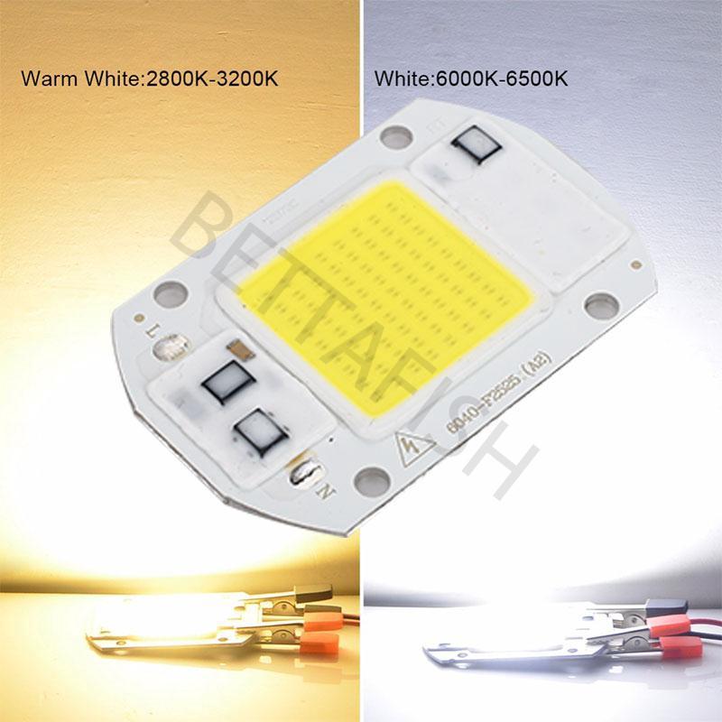LED COB Grow Chip Full Spectrum Warm White//White 220V+Lens Reflector 50W 40W 30W
