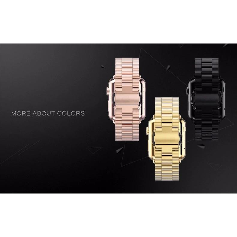 สายนาฬิกา# พร้อมส่ง)🔥สาย สําหรับapplewatch stainless steel เรียบหรู🔥สาย สําหรับAppleWatch 1/2/3/4/5/6 38MM/40MM/42MM/4