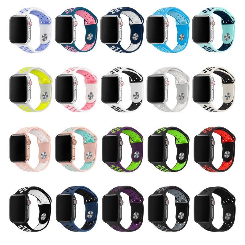 Apple Watch Band 38 มม. 40 มม. 42 มม. 44 มม. สายนาฬิกาข้อมือสำหรับ iWatch Series 5/4/3/2/1 81010